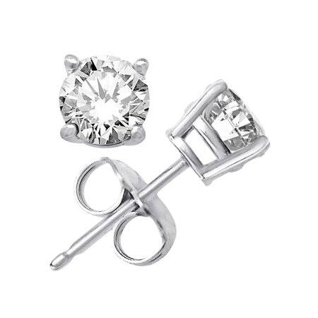 30d017037 Brilliant Round Cut 8mm white Cubic Zirconia .925 Sterling Silver Basket  Setting Stud Earrings