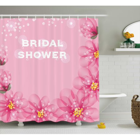 bridal shower decorations shower curtain asian flowers with abstract petals and dots image fabric