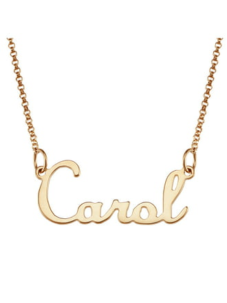 chains names plates jewelry gold name necklace