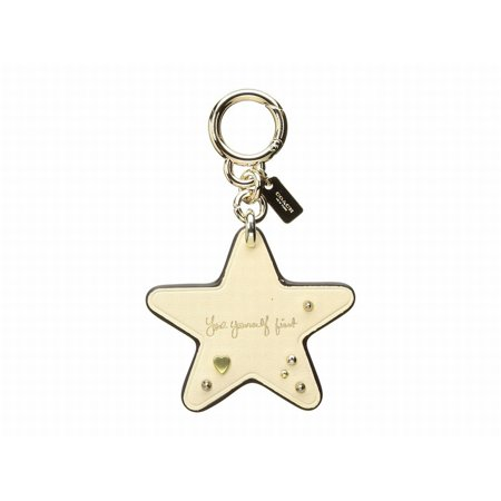 Coach NEW Gold Chalk Selena Gomez Star Handbag Charm Chain (Gold Handbag Charm)