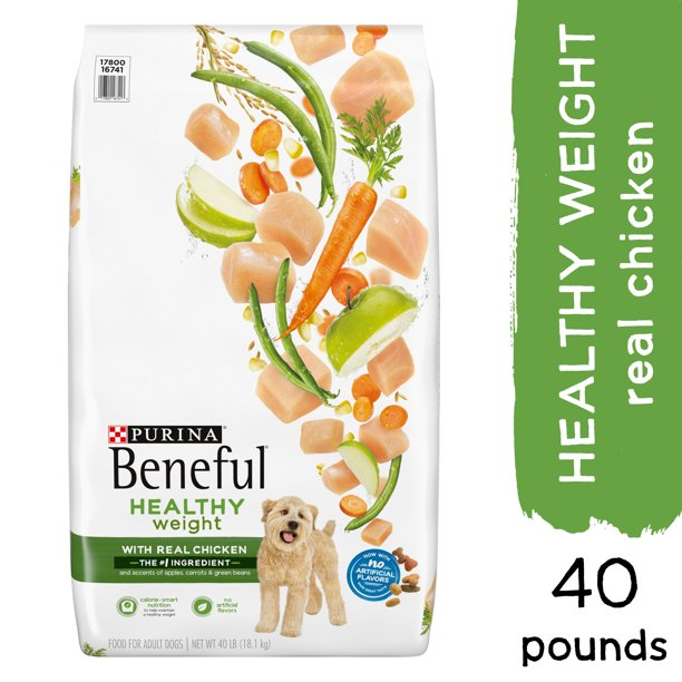 Purina Beneful Healthy Weight Dry Dog Food, Healthy Weight With Real Chicken, 40 lb. Bag