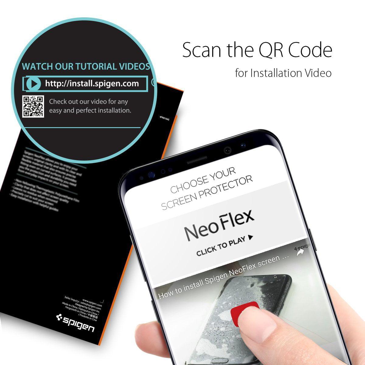 online retailer ba5a2 d415e Spigen Galaxy S8 Plus Screen Protector NeoFlex / 2 Pack / Flexible Film /  Case Friendly for Samsung Galaxy S8+