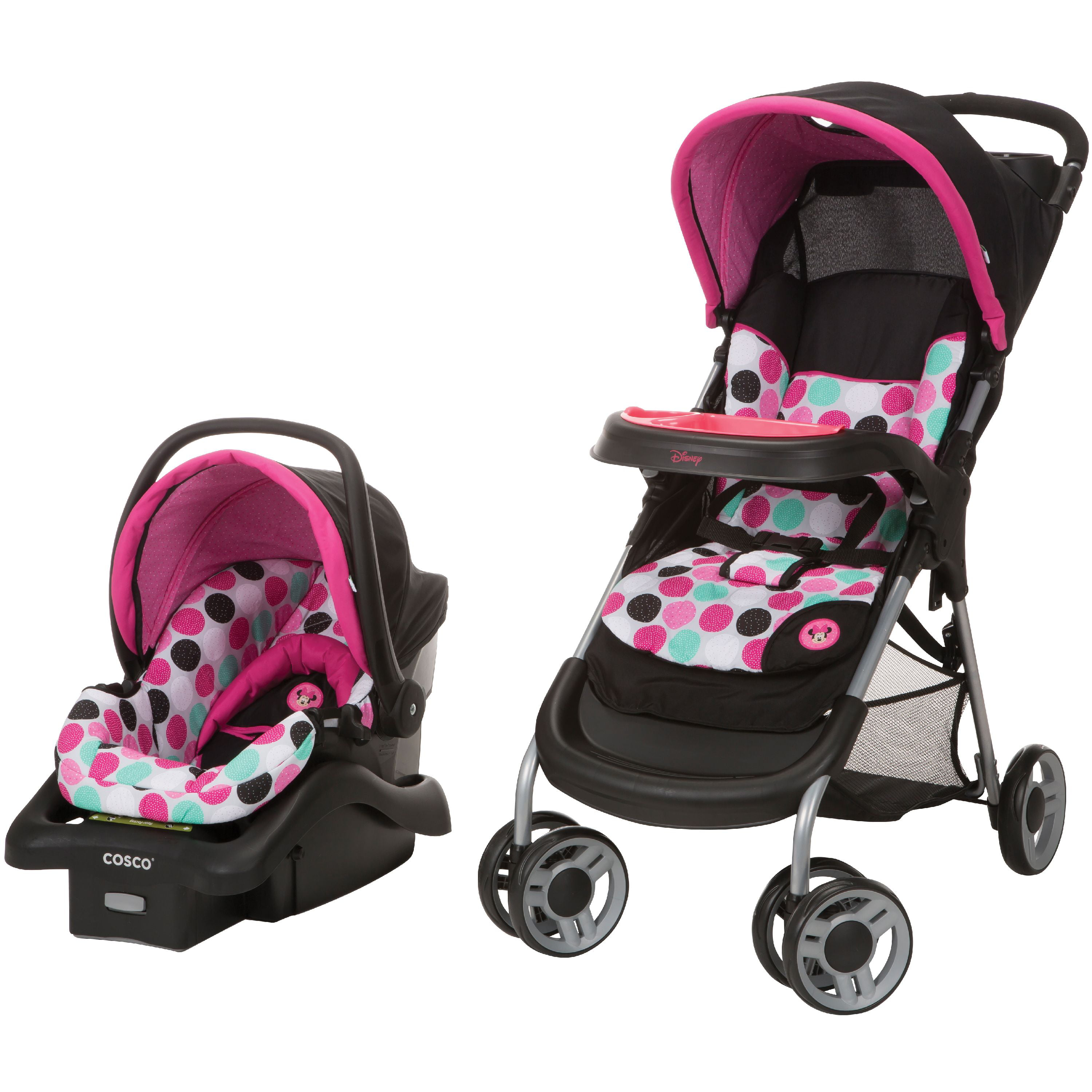 Disney Baby Lift StrollTM Plus Travel System Minnie Dotty