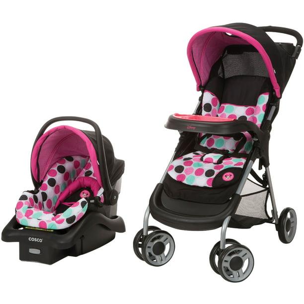 Disney Baby Lift Stroll Plus Travel System Minnie Dotty Walmart Com Walmart Com