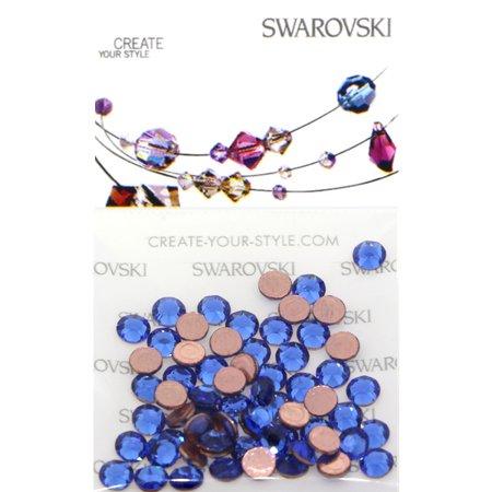 Swarovski 2038 Hot Fix Rhinestones FlatBack 10ss Capri Blue 100 pcs