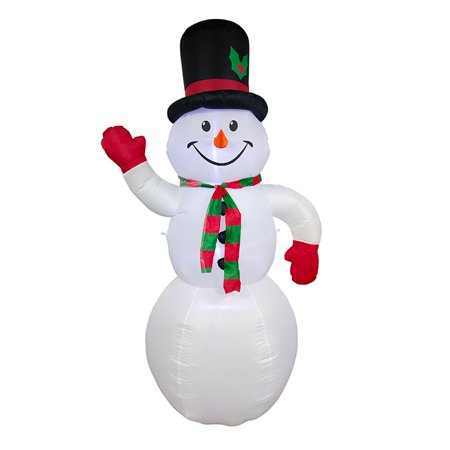 ALEKO Giant Inflatable LED Snowman for Yard - 8 Foot