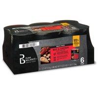 Pure Balance Grain-Free Formula Adult Wet Dog Food, Beef & Chicken, 12.5 oz, 6 Pack