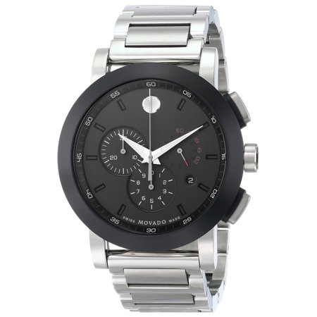 Movado Mens Museum (Museum 0606792 Chronograph Black Dial Stainless Steel Mens Watch )
