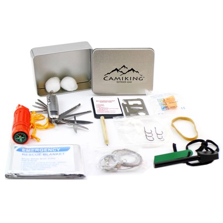 Camiking 46pcs emergency kit survival fishing gear for Survival fishing kit