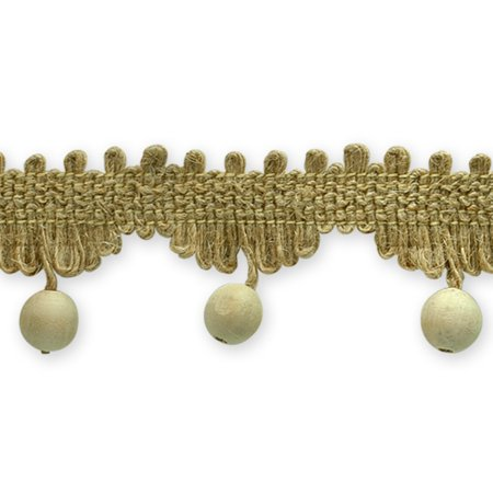 Expo Int'l Atley Natural Woven Braid Trim With Wooden Beads by the yard](Halloween Wooden Yard Patterns)