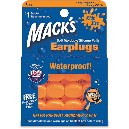 Mack's Pillow Soft Kids Silicone Earplugs 6 Pair