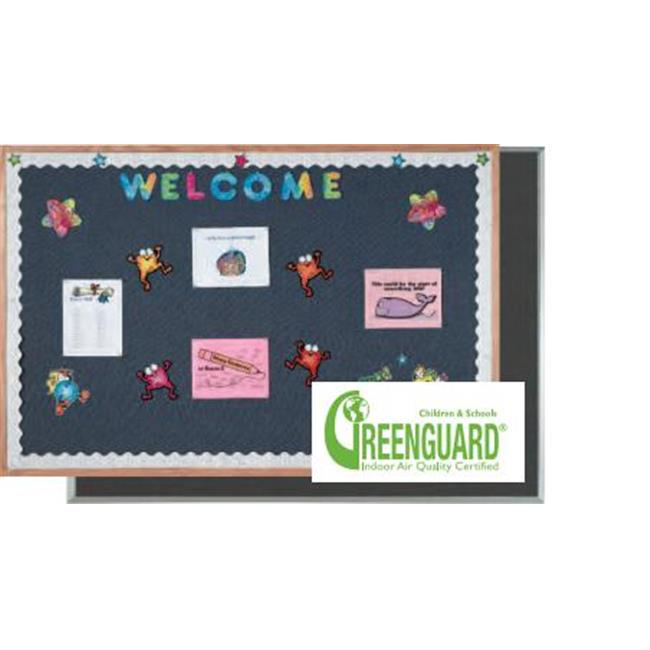 AARCO Products DF1218003 Aluminum Frame Fabric Bulletin Board