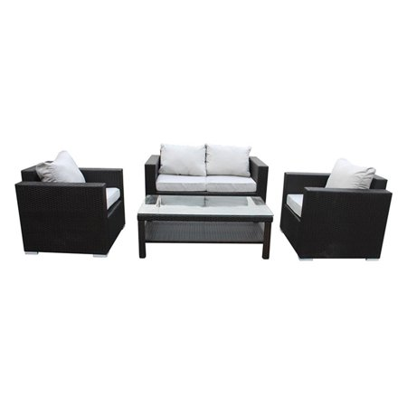 US Pride Furniture Ohana 4 Piece Wicker Outdoor Conversation Set ()
