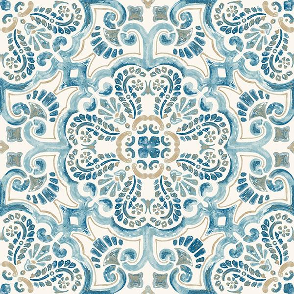 FloorPops Fontaine Peel & Stick Floor Tiles 10 Tiles/10 sq. ft.