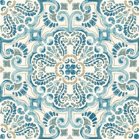 FloorPops Fontaine (5 Cartons-50 Tiles) Peel & Stick Floor Tiles - 50 sq. ft.