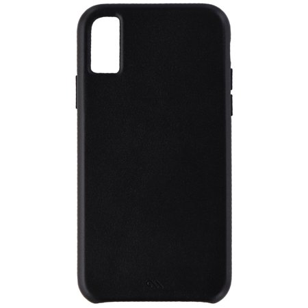 Case-Mate Barely There Genuine Leather Hard Case for Apple iPhone XS / X - Black ()