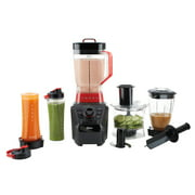 Oster Versa Pro Series Blender with Food Processor Attachment, Blend-n-go Smoothie Cups & 4-Cup Mini Jar, BLSTVB-104-000