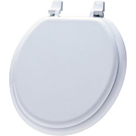 Economy Molded Wood Round Toilet Seat, Round, 66TT 000, Top-Tite hinge bolt securely fits to the bowl By Mayfair Toilet Bowl Seal