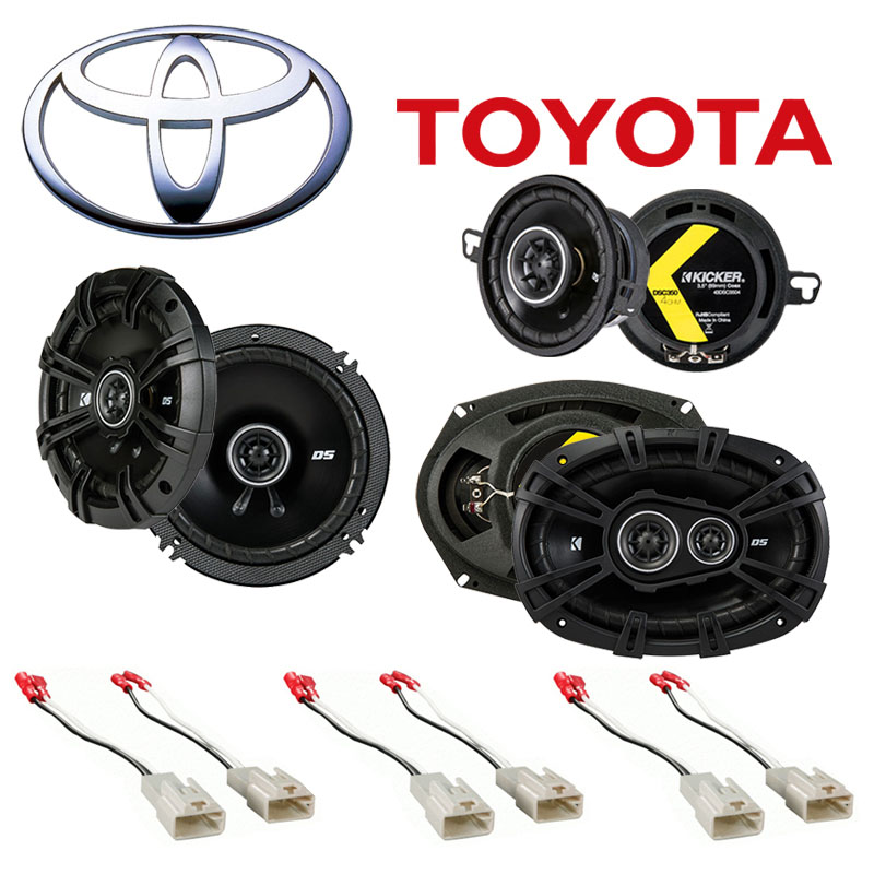 Fit Toyota Tacoma 2005-2014 Factory Speaker Replacement Kicker DS Series Package