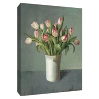 PTM Images,Tulips in White Vase