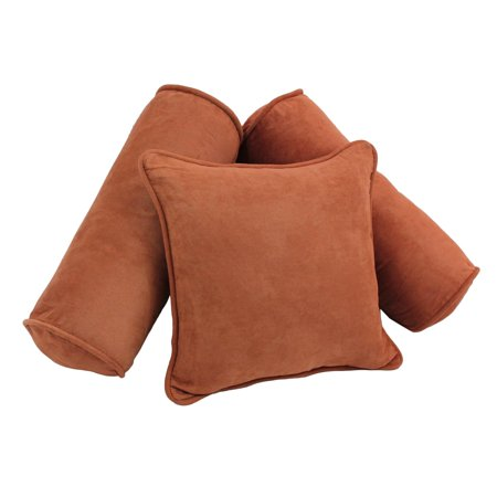 Blazing Needles 3 Piece Microsuede Throw Pillow Set