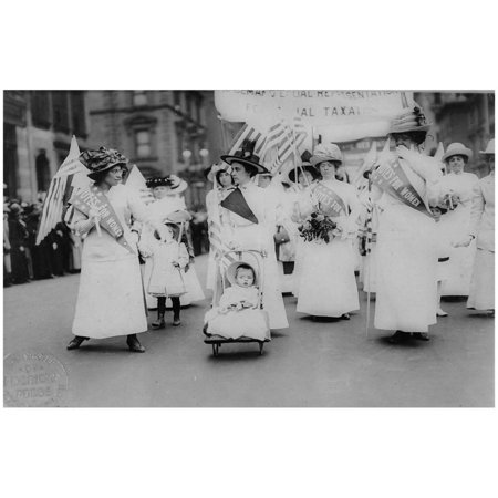 Suffrage Parade (New York City, 1912) Art Poster Print Poster - - New York City Halloween Parade Photos
