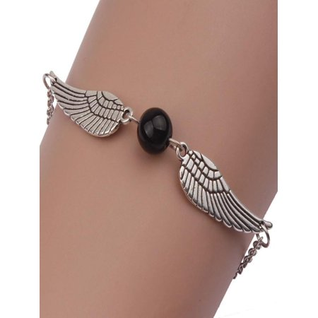 - Fashion Women Infinity Retro Pearl Angel Wings Jewelry Dove Peace Bracelet BK