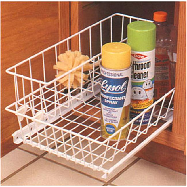 Feeny Feusb 11Tm Wh 11 inch Wide Two Tier Roll-Out Basket