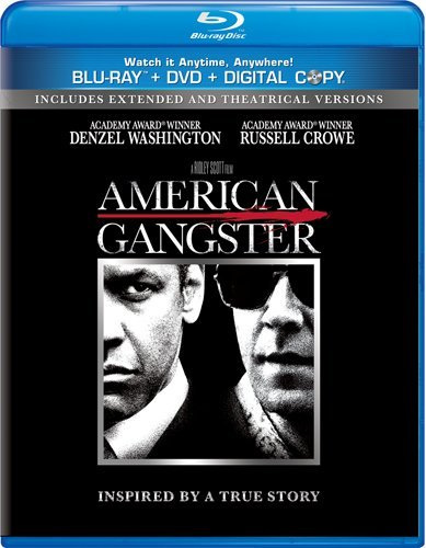 American Gangster (Unrated Extended Version Blu-ray + DVD + Digital Copy) by Denzel Washington