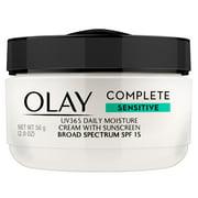 Olay Complete Daily Moisture Cream, Sensitive Skin, SPF 15, 2 oz
