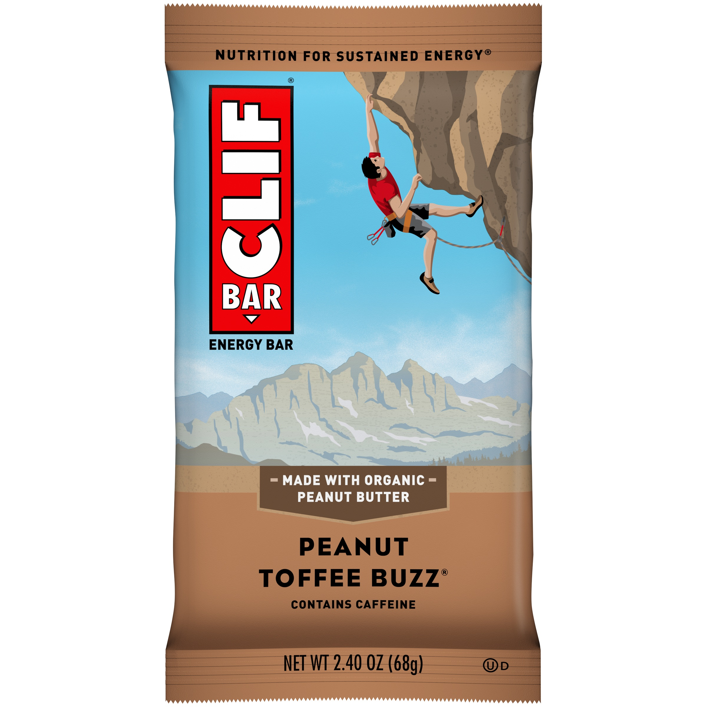 Clif Bar® Peanut Toffee Buzz® Energy Bar 2.4 oz. Wrapper