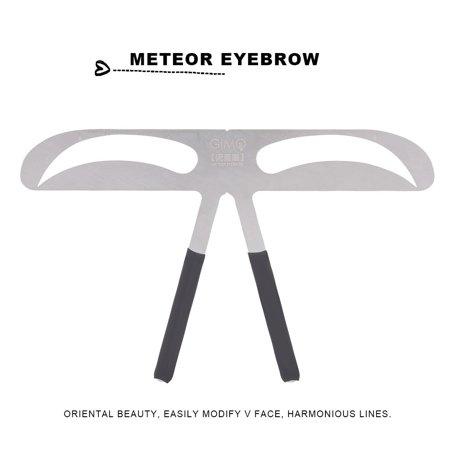 HURRISE Permanent Eyebrow Ruler Eyebrow Measure Balance Extension Ruler Meteor Eyebrow Shape Stencil,Eyebrow Ruler, Eyebrow Balance Ruler