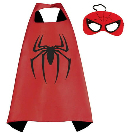 Marvel Comics Costume - Spiderman Cape and Mask with Gift Box by Superheroes - Marvel Spider Girl Costume