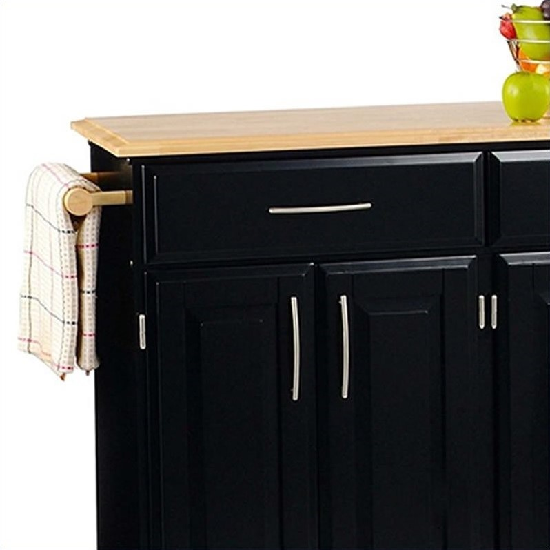 Home Styles Furniture Madison Kitchen Cart in Black - image 2 of 3