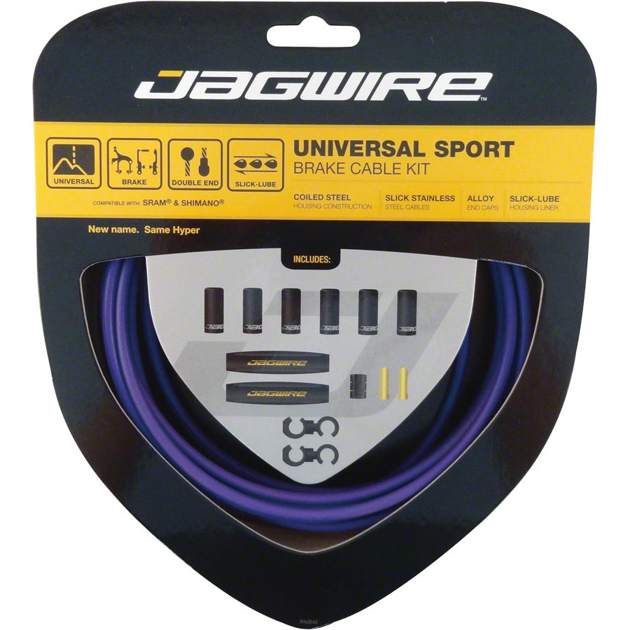 Jagwire Hyper Brake Kit Purple