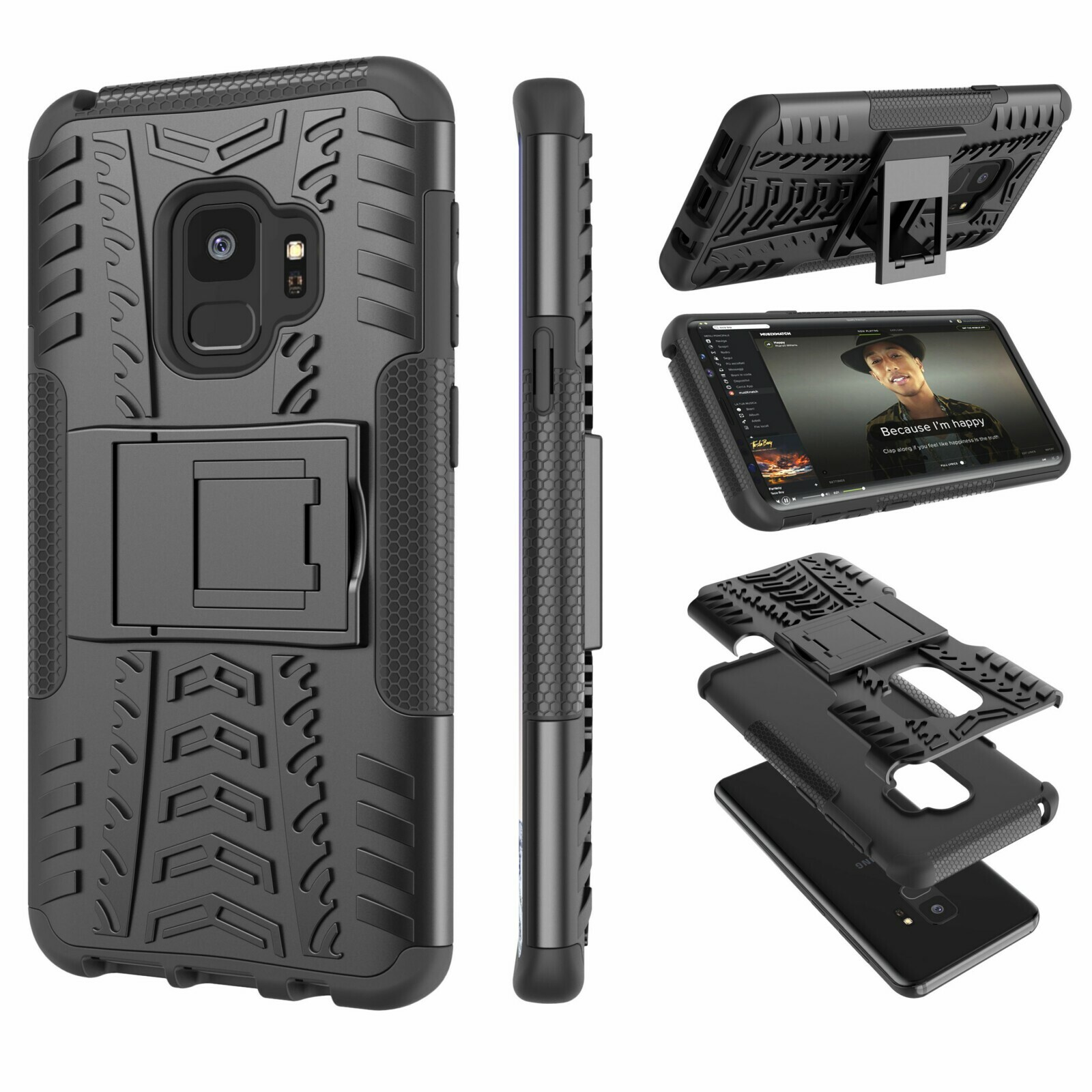 """Galaxy S9 Case, Samsung S9 Case with Stand, Galaxy S9 Shell, Tekcoo [Hoplite] Shock Absorbing Defender Heavy Full Body Kickstand Carrying Armor Case Cover For Samsung Galaxy S9 5.8"""""""