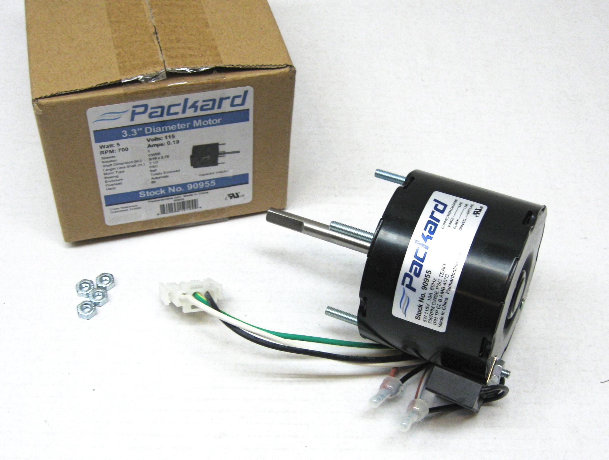 Packard 90955 Motor For Greenheck 314955 5 Watt 115 60 Volts 700 46 Wiring Diagram Rpm