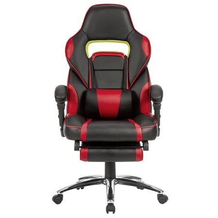 LANGRIA Executive Office Chair, Gaming Chair Racing Style with Footrest, Ergonomic High Back, 360-Degree Swivel, 175-Degree Reclining, Adjustable Seat Height, Lumbar Support, (Sparco Adjustable Racing Seat)