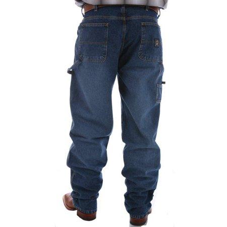 Stonewashed Jeans - Cinch Apparel Mens  Blue Label Carpenter Medium Stonewashed Jeans