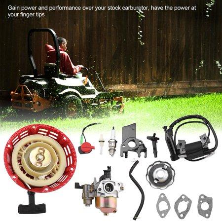 Motorcycle Carburetor,HURRISE Carburetor Recoil Ignition Coil Spark Plug Air Filter Kit for Honda GX160 GX200 - image 1 de 7