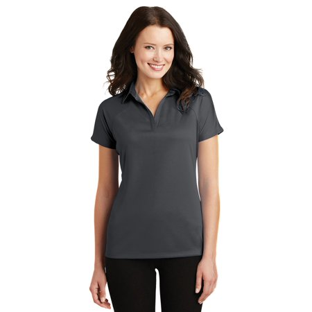 Port Authority Women's Y Neck Crossover Polyester Raglan Polo Shirt