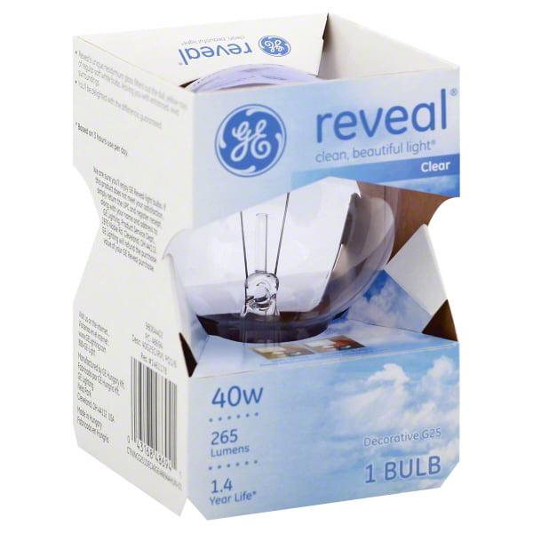 GE reveal?(R) 40 watt G25 1-pack