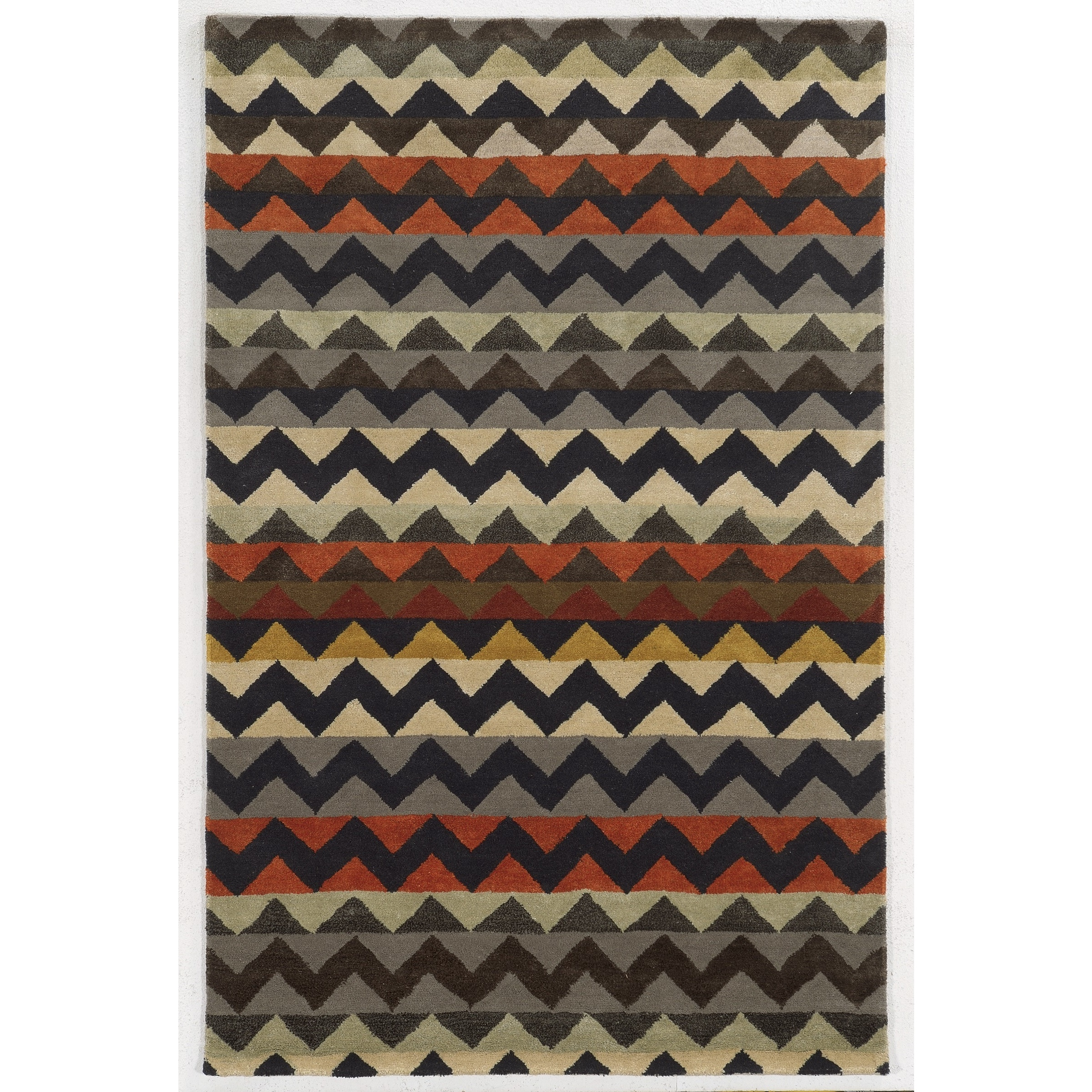 Rizzy Home  Gillespie Avenue New Zealand Wool Hand-tufted Accent Rug (8' x 10') - Multi - 8' x 10'