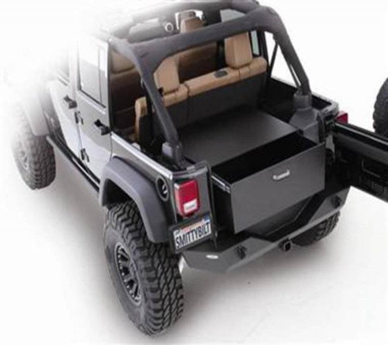 Jeep Wrangler Accessories 2017 >> Smittybilt 2007 2017 Jeep Wrangler Jk 2 4 Door Security Storage Vault Rear Lockable Storage Box 2763 Walmart Com