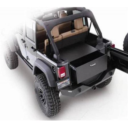 Smittybilt 2007-2017 Jeep Wrangler JK 2  4 Door Security Storage Vault Rear Lockable Storage Box