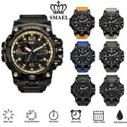 SMAEL Mens Sport Watches Military Shock Analog Quartz Digital Waterproof Watch