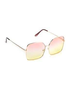 76a00b97b Product Image Women's Oversize Metal Frame Two - Toned Gradient Lens Square  Sunglasses P4157