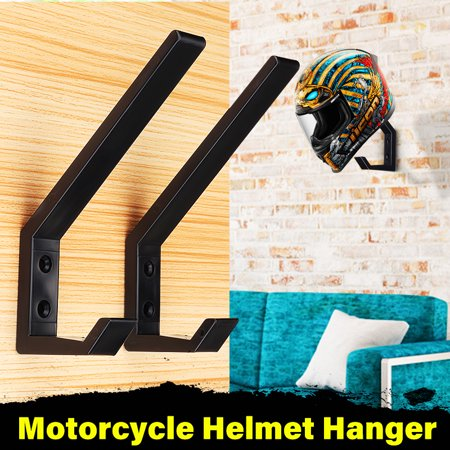 2Pcs Door Hanger Wall Mount Tool Holder Motorcycle Helmet Jacket Bags Organizer Wall Mount Display Rack Hanger for Clothes Towel