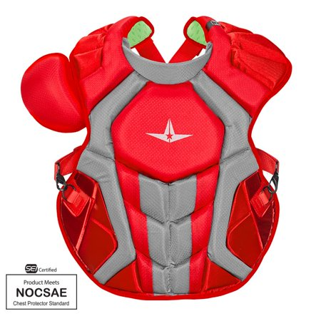 Amish Chests - All-Star CPCC40PRO Red 16.5 Adult System 7 S7 Axis Chest Protector SEI/NOCSAE