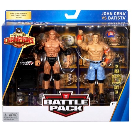 WWE Wrestling Hall of Champions John Cena vs Batista Action Figure (Wwe Championship John Cena Vs The Rock)